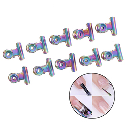 10pcs Stainless Steel Rusian C Curve Nail Pinching Curvature Clips Professional French Nail Tool Nail Extension Curl Clip