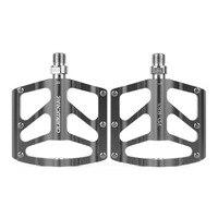 1 par pedais de bicicleta rolamentos de cromo anti deslizamento ultraleve mtb mountain bike pedal liga de alumínio acessórios quentes Pedal da bicicleta     -