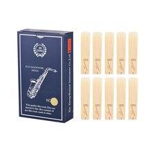 10 pçs/caixa g alto saxofone juncos nível normal g alto saxofone sax juncos força 2.0/ 2.5/ 3.0 para iniciantes