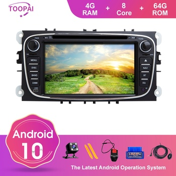 TOOPAI Android 10 For Ford Focus 2 S-Max C-Max Mondeo 4 Galaxy 2008-2011 Car Multimedia Player GPS Navigation Auto Radio SWC