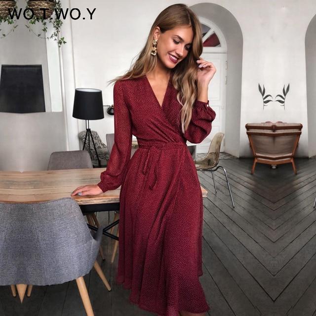 soft fashion dress, belted v-neck 1