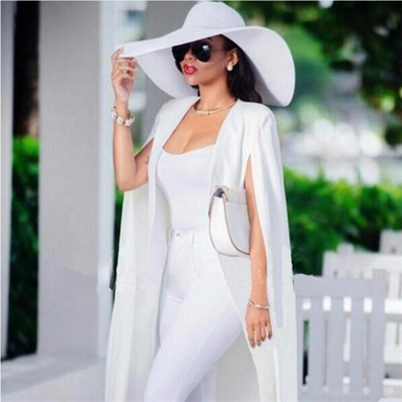 Woman Blazer Slim Casual Solid Suit Vintage Commuter Double-sided Woolen Irregular Long Blazer Outerwear Blazer Feminino