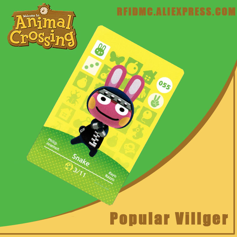 055 Snake Animal Crossing Card Amiibo For New Horizons