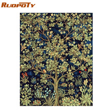 RUOPOTY Frame Picture Classical Flowers Diy Painting By Numbers Acrylic Canvas Painting Print On Canvas For Home Wall Art Decors cheap Oil Paintings Single Unframed Hand Painted Horizontal Rectangle Linen diy frame rolled on tube painted by yourself unique gift for children family