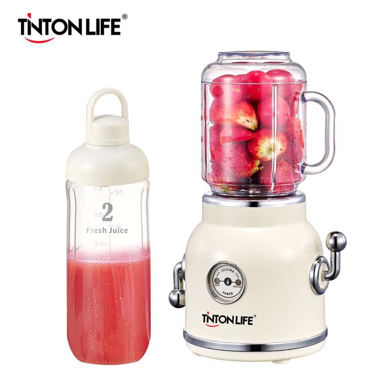 TINTONLIFE 220V Juicer Electric Multifunction Juice Blender Fruit Vegetables Food Maker With 550ml/600ml Portable Juice Cup