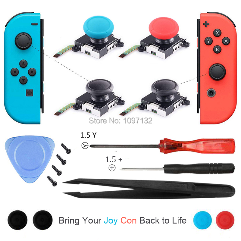 3D Analog Joycon Joystick Thumb Sticks Sensor Replacements Accessories For Nintend Switch Joy Con Controller Housing w/ Tool Kit(China)