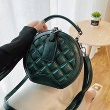 Luxury Women Handbag Purses Crossbody-Bags Round-Shape Famous Designer Brand Diamond