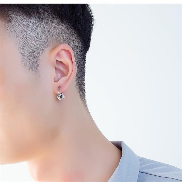 AZIZ BEKKAOUI One Pair Cool Punk Men s Stainless Steel Punk Earring Piercing Round Stud Earing.jpg 640x640 - AZIZ BEKKAOUI One Pair Cool Punk Men's Stainless Steel Punk Earring Piercing Round Stud Earing For Men Fashion Jewelry Ear Studs