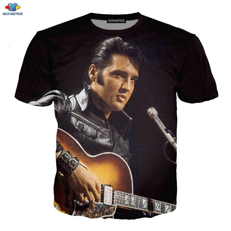 Elvis Presley The King Rock Guitar in Hand Little Boys Toddler T-Shirt Tee