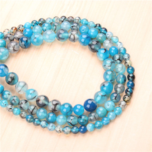 Natural Blue Dragon Agate 4/6/8/10/12mm  Bead Round Bead Spacer Jewelry Bead Loose Beads For Jewelry Making DIY Bracelet