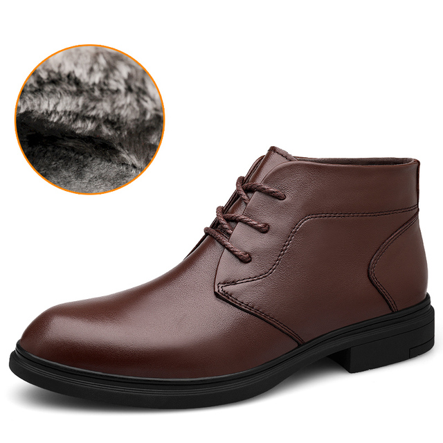 High Quality Cow Leather Boots Men Size