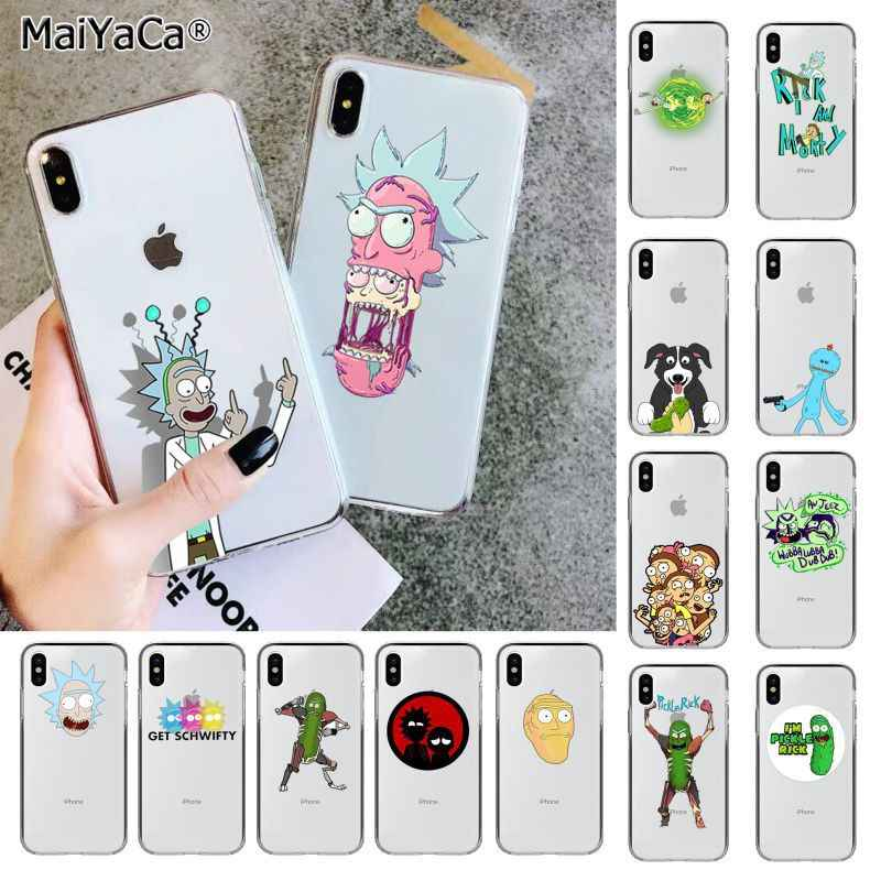 Maiyaca Rick dan Morty Lucu Kartun Tpu Fundas Phone Case Cover untuk Apple Iphone 11 Pro 8 7 66S PLUS X XS Max 5S SE XR Cover