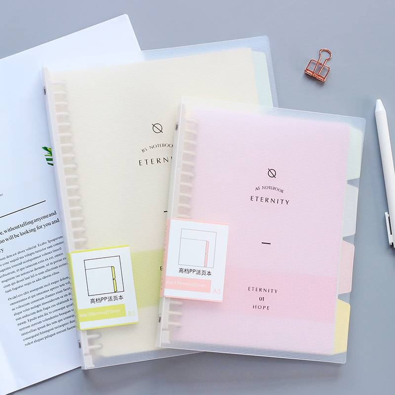 A5 B5 Macaron Colour Small Fresh Loose-leaf Notebook Korea Simple Detachable Refill Student Note Book Cute School Supplies
