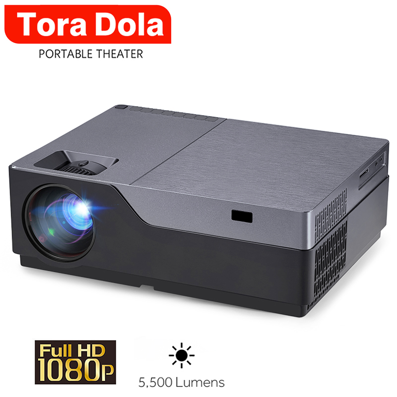 TORA DOLA 1920*1080P LED Projector Support AC3. 5500 Lumens Full HD Theater (Optional Android 8.0 WIFI Display ) <font><b>M18</b></font>. LED TV image