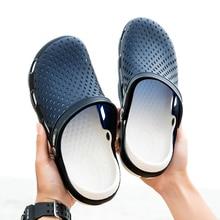 Оригинальные новые садовые Вьетнамки; водонепроницаемая обувь; мужские прогулочные спортивные летние пляжные шлепанцы; сандалии для плавания; садовая обувь