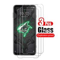 Protector de pantalla de vidrio templado para Xiaomi Black Shark 3 3S, película protectora de vidrio 9H, 3 uds.