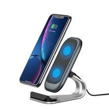Nowa pionowa bezprzewodowa ładowarka biurkowa mobilna bezprzewodowa 10 w quick charge 7.5 W5W kompatybilna
