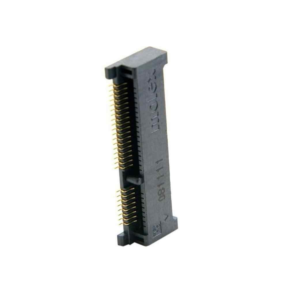 Mini PCI-E PCI Express PCie mSATA 52pin 4.0mm yükseklik soket dişi soketli konnektör adaptörü dahili SMT SSD en iyi fiyat
