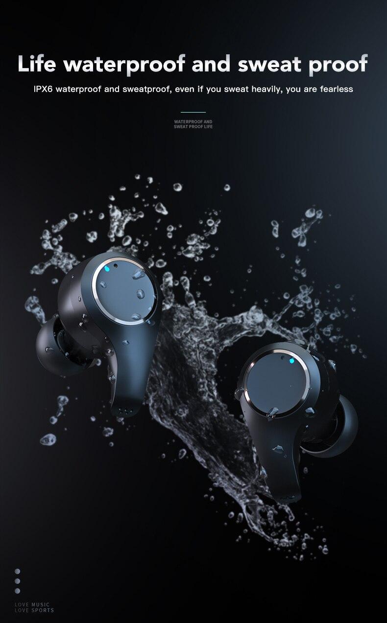 microfone duplo cancelamento ruído ativo toque ajustar o volume fones