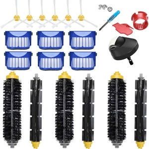 Image 1 - Front wheel Main bottom  brush side brushes filter for iRobot Roomba 600 605 614 650 660 671 675 690 696  for Roomba accessories