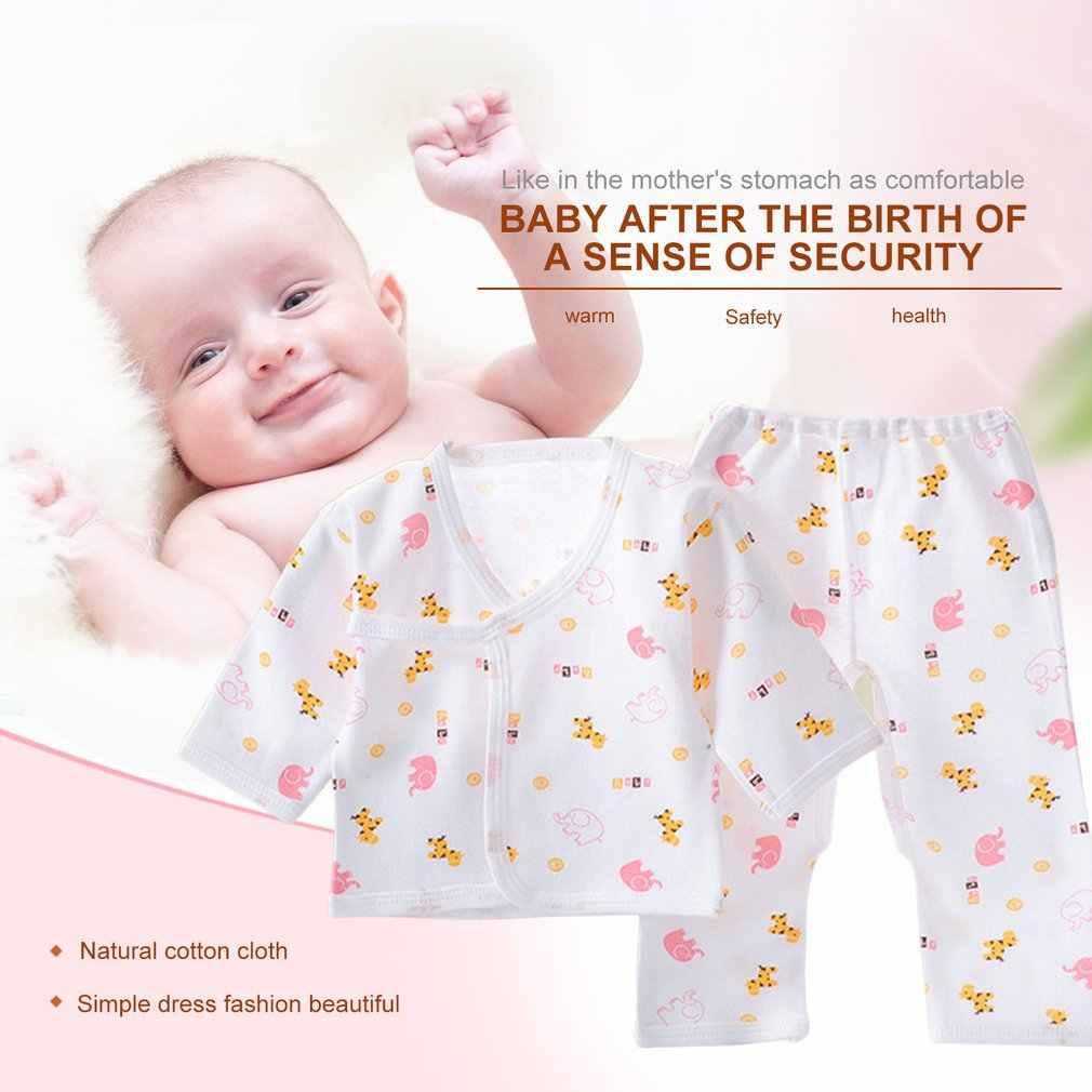 뜨거운 신생아 의류 패션 코튼 유아 속옷 아기 소년 소녀 정장 세트 의류 모든 계절에 대한 0-3M 베이비 가운 탑스