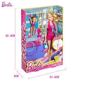Image 5 - Original Barbie Gymnastics Coach Doll Barbie Girl Toys Gift Box Set Best Gift For Birthday Christmas Juguetes DKJ21