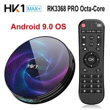 HK1 MAX Plus Восьмиядерный Android 9,0 Смарт ТВ приставка 4K 4GB 128GB RK3368 PRO 2,4g/5g Wifi H.265 1000M Netflix цифровая ТВ приставка