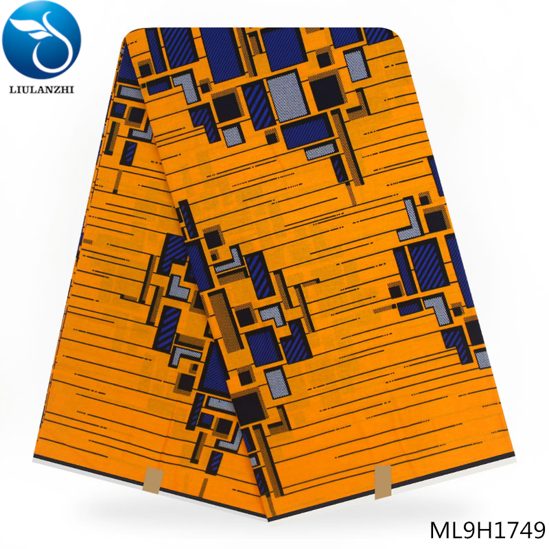 LIULANZHI Yellow nigerian dutch wax high quality Dutch 100% Cotton african printed fabric ML9H1728-ML9H1749