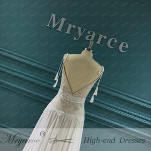 Image 5 - Mryarce 2020 New Boho Wedding Dress Spaghetti Straps Lace Chiffon Bridal Gowns