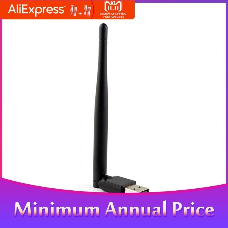 BEESCLOVER Mini Wireless Wifi 7601 2.4Ghz Wifi Adapter For DVB-T2 And DVB-S2 TV BOX WiFI Antenna Network LAN Card R25