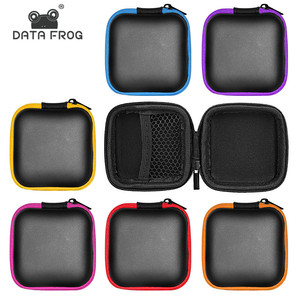 Image 1 - DATA FROG Portable Case for Headphones Earphone Storage Carrying Bag for SD TF Cards USB Flash Earphone Headphone Accessories
