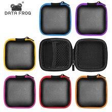 Портативный чехол DATA FROG для наушников, сумка для хранения наушников, сумка для хранения SD TF карт, USB Flash наушников, аксессуары для наушников