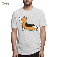 For Man Corgi Yoga Pose T Shirt 2019 New Streetwear Round Neck Boy Short-sleeved