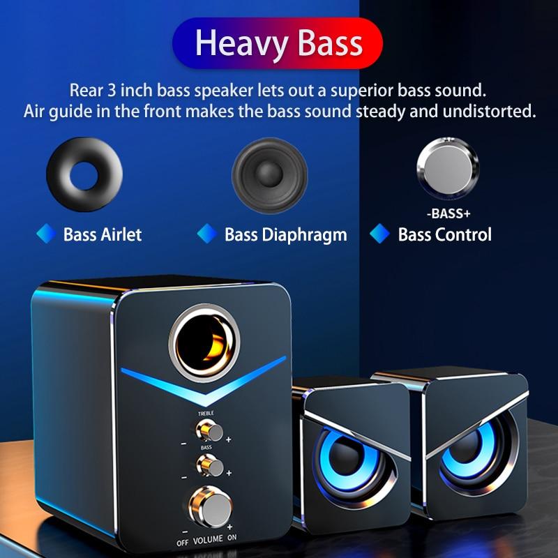 Home Theater System Caixa De Som PC Bass Subwoofer Bluetooth Speaker Computer Speakers Music Boombox Desktop Laptop Altavoces TV 4
