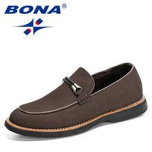 Мужские классические офисные туфли bona с круглым носком Кожаные