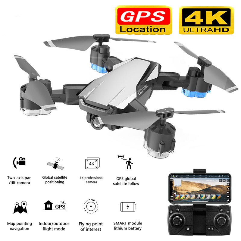 New RC Drone GPS 5G WIFI and 4K HD wide-angle camera FPV Drone X Pro Quadcopter auto follow drone with HD camera image