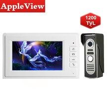 Video-Intercom-System Doorbell Waterproof Wired 1200tvl-Camera Unlock Night-Vision Home-Security