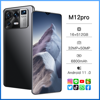Xiao M12 Pro Global Version Qualcomm 888 16GB 512GB6800mAh 5G 6.7 Inch Mobile Phone 10 Core Cellphone 4G LTE Smartphone Network 1