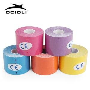 5 см водонепроницаемый кинезиологический пластырь кинезиологическая лента для баскетбола колено мышцы Эластичный Защитный бинт локоть для фитнеса поддержка