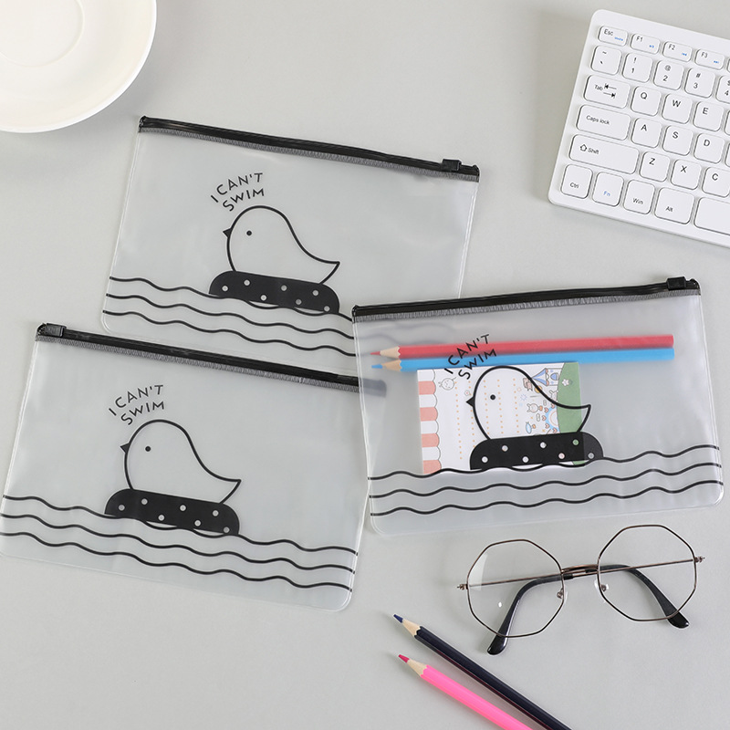 1pc 13.5X20.5cm Transparent  File Folders Pencil Bag & Case Storage Bags Pvc Bag