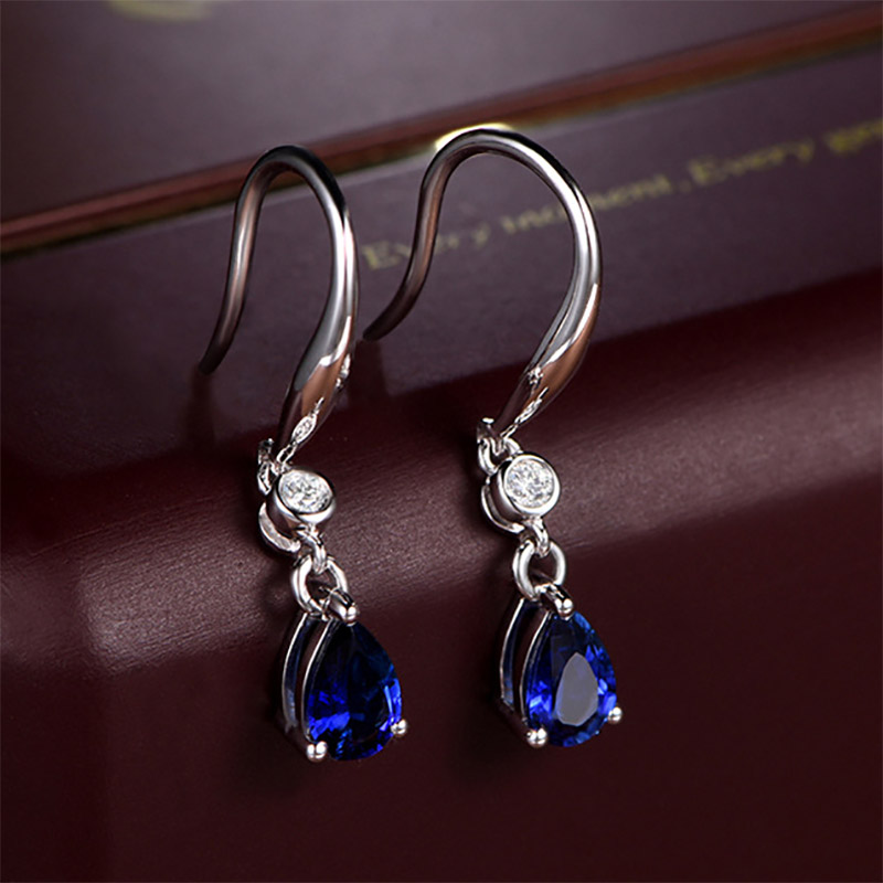 H76c583d39f14488fa864304177fbd77cI - Bague Ringen Silver 925 Jewelry Earrings Sapphire Siver Korean Ear Jewelry  Purple/Blue/Yellow Color Party Dating Gift Wholesale