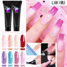 LIKIMU Extension Poly Gel Kits French Nail Art Clear Camouflage Color Nail Tip Form Crystal UV Gel Polygel Slice Brush Nail Gel(China)