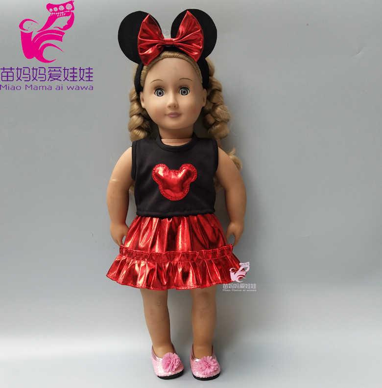 Ropa de muñeca para 40cm 43cm bebés nacidos falda de muñeca Chaleco de piel camisa 18 pulgadas muñeca ropa de invierno