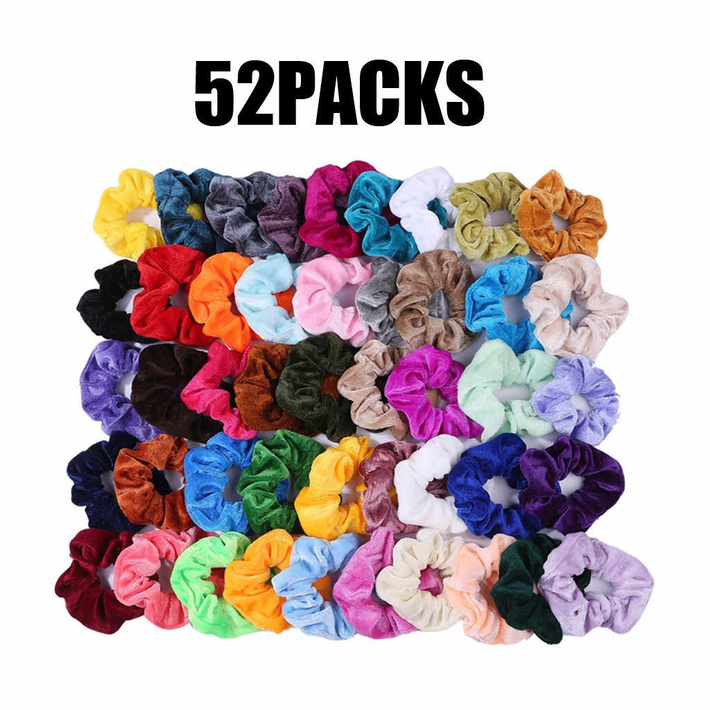 Paquete de accesorios sólidos de nailon elástico de 52 bandas para pelo para mujer o niña accesorios para el cabello cabelo acessorio # Y2