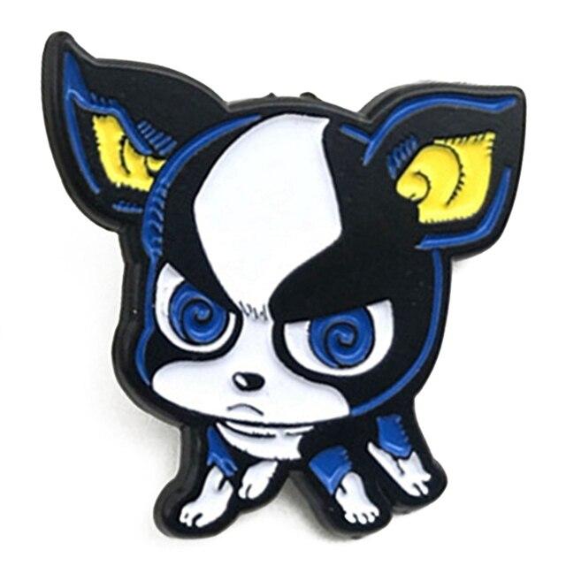 Japanese Anime Jojo Bizarre Adventure Iggy Dog Badge Pins Key Ring Keychain Kid Toy Key Holder Trinket Gifts Brooches Aliexpress