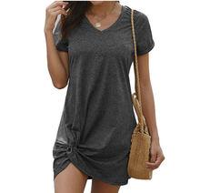 Новое поступление женская одежда летнее платье с боковым поясом