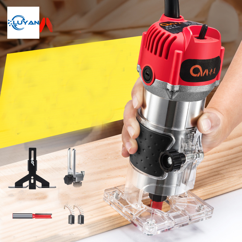 2020 New Update 680w Electric Hand Trimmer Wood Trimming Engraving Carving Machine