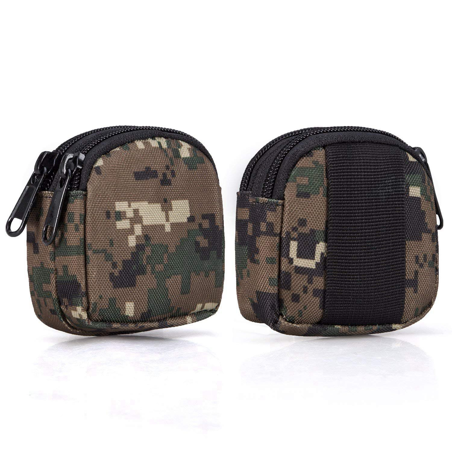 Small Outdoor Pouch,Military Purse Organizer Army Molle Gear(Waterproof)(Dual Layer Pockets) Nylon EDC Utility Gadget Outdoor Wa