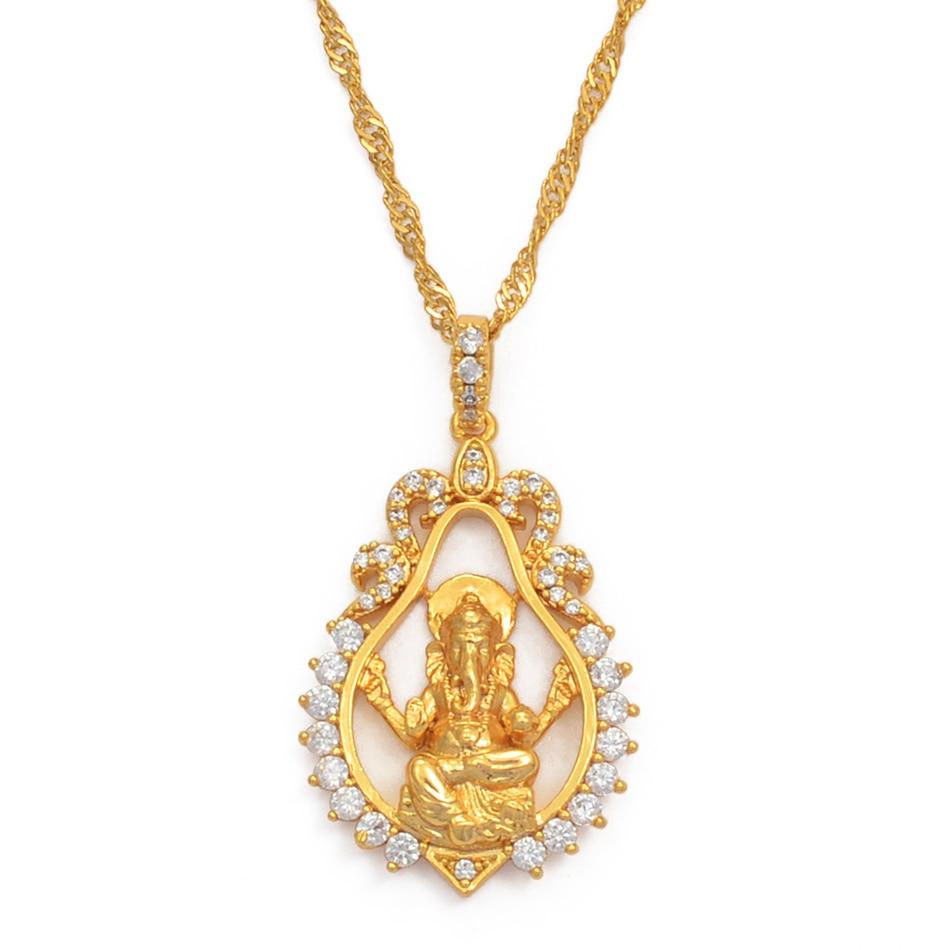 The Palm and Gold Buddha Vinayaka Vintage Lord Ganesha Indian Buddhism Jewelry