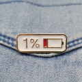 Enamel Pin 1% Electricity Quantity Brooch Buckle Golden Metal Badge Bag Clothes Lapel Brooches For Women Men Kids Gifts